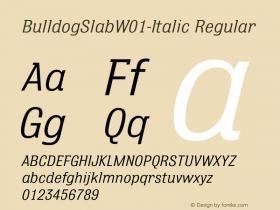BulldogSlab-Italic