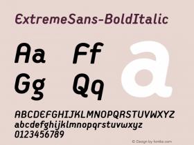 ExtremeSans-BoldItalic