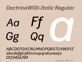 Doctrine-Italic
