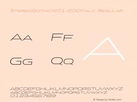StereoGothic-200Italic