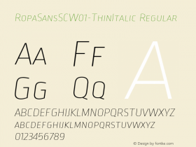 RopaSansSC-ThinItalic
