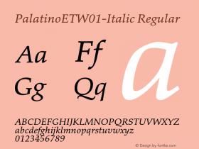 PalatinoET-Italic