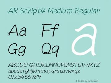 AR Script4 Medium