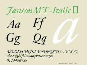 JansonMT-Italic