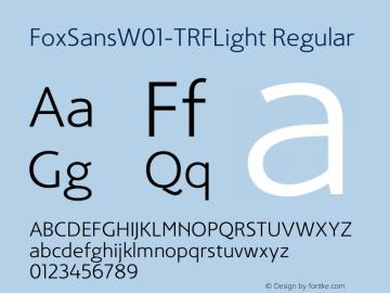FoxSans-TRFLight