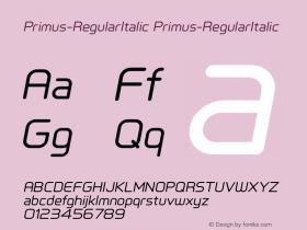 Primus-RegularItalic