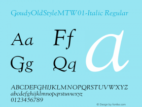 GoudyOldStyleMT-Italic