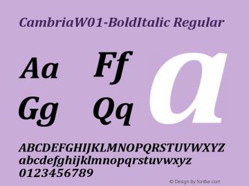 Cambria-BoldItalic