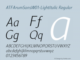 ATFArumSans-LightItalic