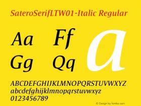 SateroSerifLT-Italic