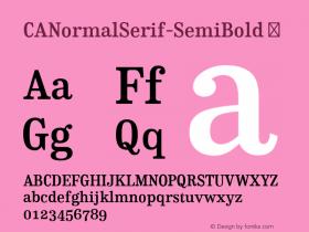 CANormalSerif-SemiBold