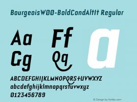 Bourgeois-BoldCondAltIt