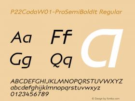 P22Coda-ProSemiBoldIt