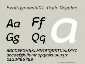 Fruitygreen-Italic