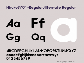 Hiruko-RegularAlternate