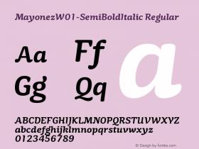 Mayonez-SemiBoldItalic