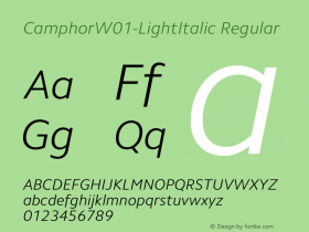 Camphor-LightItalic