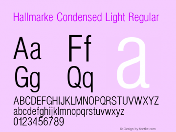 Hallmarke Condensed Light
