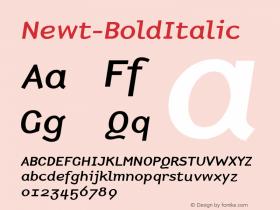 Newt-BoldItalic