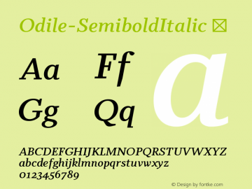 Odile-SemiboldItalic