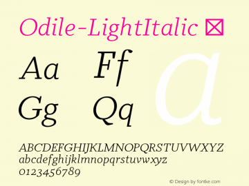 Odile-LightItalic