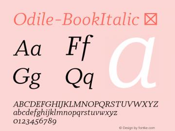 Odile-BookItalic