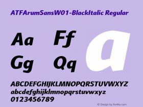 ATFArumSans-BlackItalic