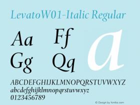 Levato-Italic