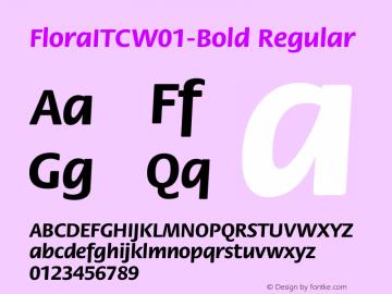 FloraITC-Bold
