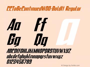 CCToBeContinued-BoldIt
