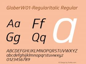 Glober-RegularItalic