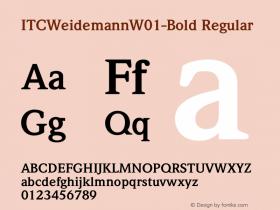 ITCWeidemann-Bold