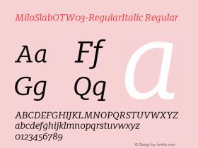 MiloSlabOT-RegularItalic