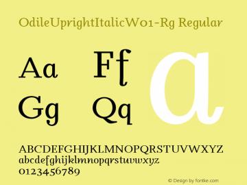 OdileUprightItalic-Rg