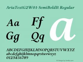 AriaTextG2-SemiBoldIt