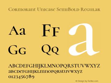Cormorant Unicase SemiBold