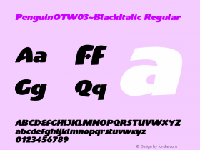 PenguinOT-BlackItalic