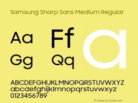 Samsung Sharp Sans Medium