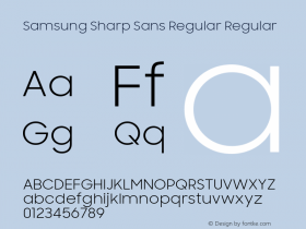 Samsung Sharp Sans Regular