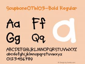 SoupboneOT-Bold