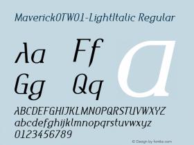 MaverickOT-LightItalic