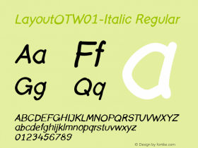 LayoutOT-Italic