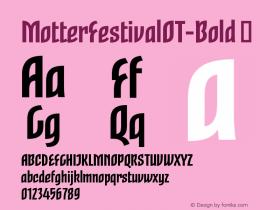 MotterFestivalOT-Bold