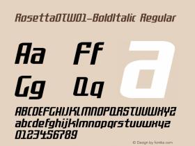 RosettaOT-BoldItalic