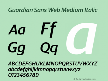 Guardian Sans Web Medium
