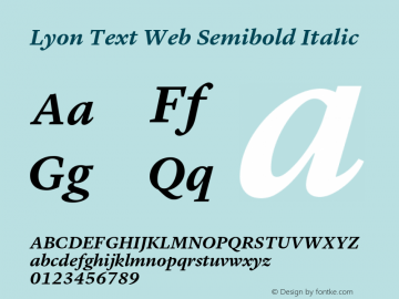 Lyon Text Web