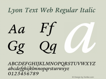 Lyon Text Web Regular
