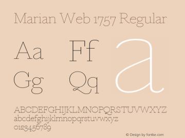 Marian Web 1757