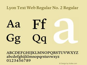 Lyon Text Web Regular No. 2