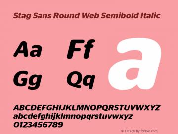 Stag Sans Round Web